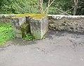 River Deveron, Huntly Castle Bridge WWII road block. Aberdeenshire.jpg