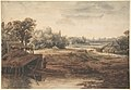 River Landscape with a Man Standing by a Boathouse MET DP800442.jpg