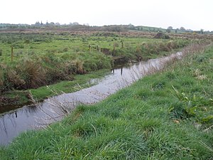 River Robe (Ireland) - River Robe flows downstream at Keebagh, near its source in Mayo