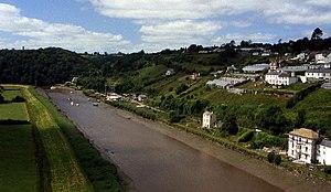 Tamar–Tavy Estuary - Image: River Tamar from Calstock Viaduct geograph.org.uk 73430