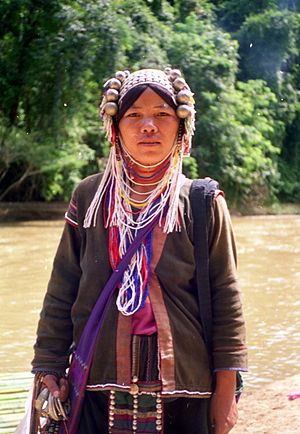 Northern Thailand - River Woman in Northern Thailand