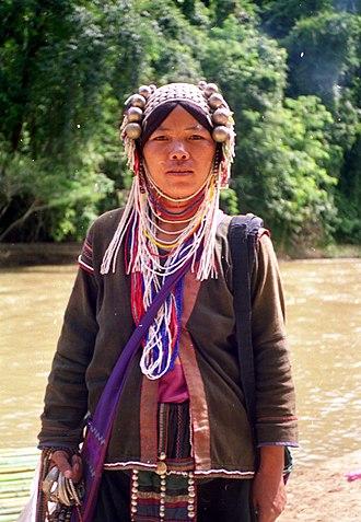Northern Thailand - River woman, northern Thailand