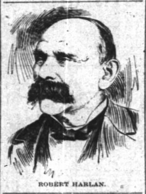 Robert James Harlan - Sketch from The Cincinnati Enquirer, September 22, 1897