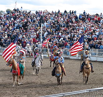 Sports in the United States - Grand Entry at the Pendleton Round-Up