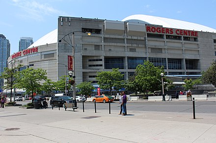 View from Bremner Boulevard Rogers Centre. View from Bremner Blvd.jpg