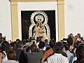 Romería de Nuestra Señora de Piedras Albas, año 2019, salida de la imagen de la Virgen.jpg