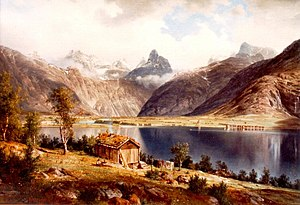 Johan Fredrik Eckersberg - Romsdalshorn i Rauma (1865)