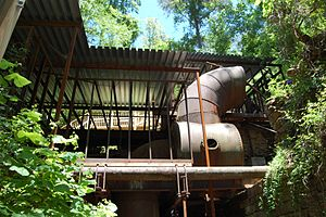 Historic mills of the Atlanta area - Roswell Mill ruins, May 2009.