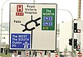 Roundabout sign, Belfast - geograph.org.uk - 1439648.jpg