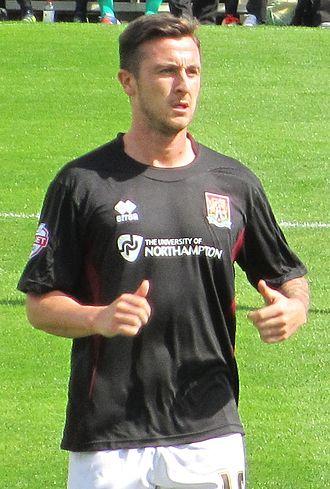 Roy O'Donovan - O'Donovan playing for Northampton Town in 2013