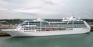 Harwich International Port - The cruise ship Royal Princess at the port