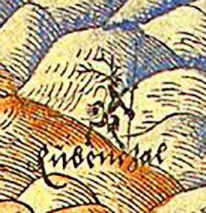 Rübezahl - Rübezahl as a tailed demon, first known depiction by Martin Helwig, 1561