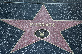 Rugrats - The Rugrats received a star on the Hollywood Walk of Fame in a ceremony on June 28, 2001, commemorating the show's 10th anniversary.