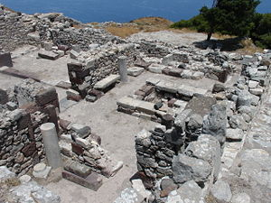 Ancient Thera - Housing ruins in Ancient Thera