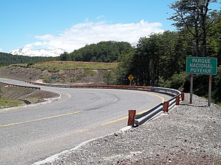 Chile Route 215 highway in Chile
