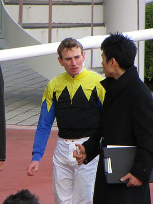 Ryan Moore (jockey) - Ryan Moore at Hanshin Racecourse, Japan