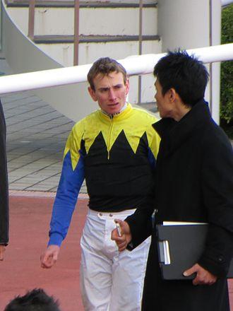 Ryan Moore (jockey) - Ryan Moore at Hanshin Racecourse, Japan