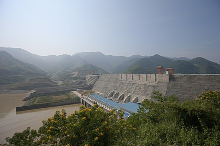 Son La Dam in northern Vietnam, the largest hydroelectric dam in Southeast Asia. Son La Dam.JPG