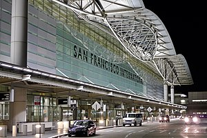 San Francisco International Airport - San Francisco International Terminal at night
