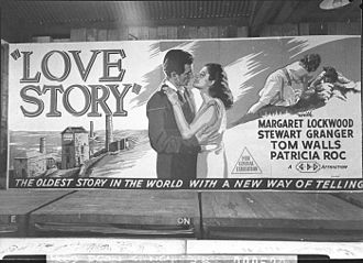 Love Story (1944 film) - Advertisement for the film on display in Sydney, Australia (1946)