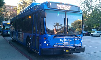 Big Blue Bus - Big Blue Bus at UCLA Hilgard Terminal