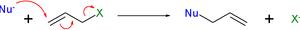 Allylic rearrangement - SN2 accent reaction mechanism