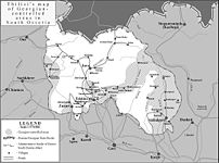 South Ossetia detailed map (zones of control a...