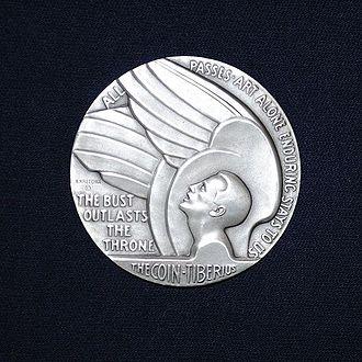 Society of Medalists - Society of Medalists Issue 29, Inspiration Aspiration, by Richard Recchia. 1944 silver