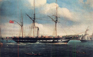 A painting of the SS Royal William, 1834