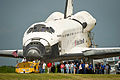 STS-135 is rolled out for processing.jpg