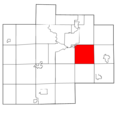 Saginaw County Michigan townships Bridgeport highlighted.png
