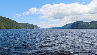 Saguenay River - Saguenay River, inside the Saguenay–St. Lawrence Marine Park