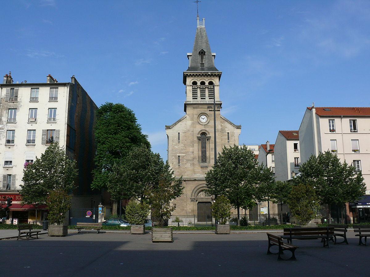 Glise Sainte Genevi Ve De La Plaine Wikip Dia