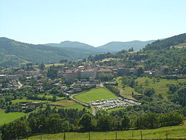 A view of Saint-Félicien from the route to the Col de Fontaille