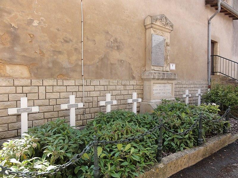 Saint-Laurent-sur-Othain (Meuse) cimetière, carré militaire avec monument