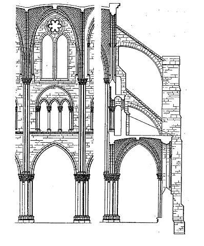 File saint leu d 39 esserent 60 glise prieurale trav e for Architecture romane