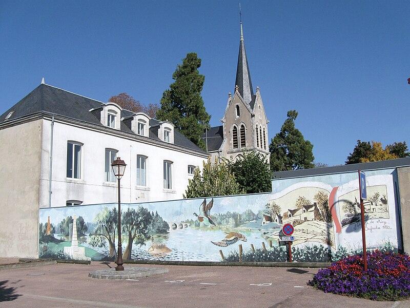 Église Saint-Privat et presbytère, Saint-Pryvé-Saint-Mesmin, Loiret, France