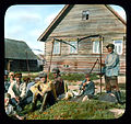 Saint Petersburg farmers in front of a house, near Leningrad.jpg