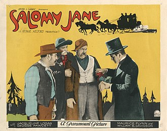 Jesse L. Lasky - Lobby card for Salomy Jane, silent Western produced by Jesse Lasky