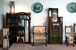 Carlo Bugatti - Furniture by Carlo Bugatti (Kunstgewerbemuseum Berlin)