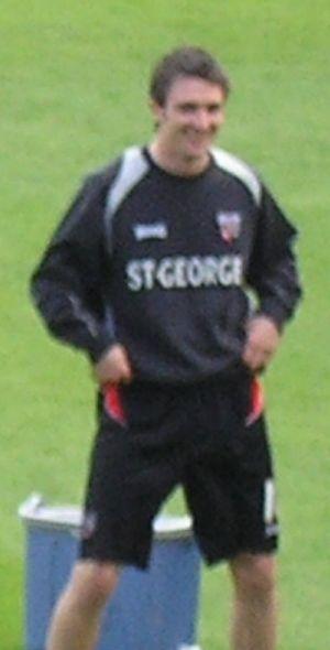 Sam Tillen - Tillen warming up for Brentford in 2006.