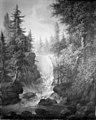 Samuel Mygind - Skovrigt landskab med et vandfald - KMSsp889 - Statens Museum for Kunst.jpg