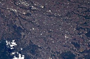 San José, Costa Rica - San José from the International Space Station
