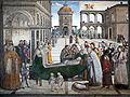 Santa Maria in Aracoeli Cappella Bufalini Tod des Hl. Bernhardin.JPG