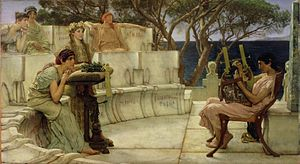 Sappho and Alcaeus of Mytilene, by Lawrence Alma-Tadema (1881)
