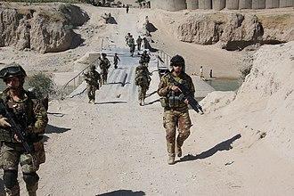 Sassari Mechanized Brigade - Image: Sassari Brigade on patrol, Afghanistan