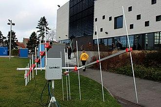 Antenna rotator - SatNOGS version 2 ground station deployed during FOSDEM 2015