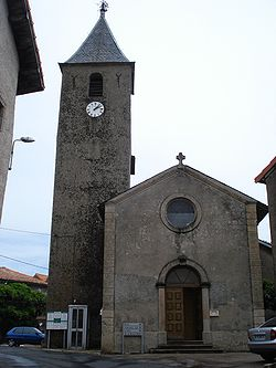 Sauclières (Aveyron, Fr), church.JPG