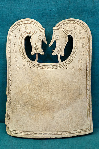Thorfinn the Mighty - The Scar boat burial whalebone plaque found on the island of Sanday