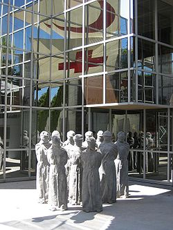 Entry to the International Red Cross and Red Crescent Museum in Geneva.